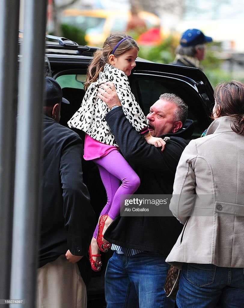 Suri Cruise is seen Upper West Side at Streets of Manhattan on November 2, 2012 in New York City.