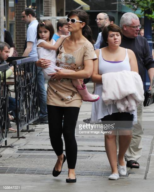 Suri Cruise Katie Holmes and Isabella Cruise seen on the streets of Toronto on August 22 2010 in Toronto Ontario Canada