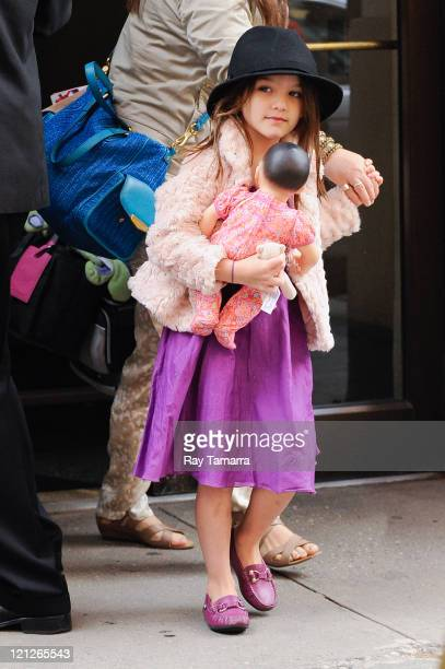 Suri Cruise leaves her Greenwich Village apartment on August 16 2011 in New York City