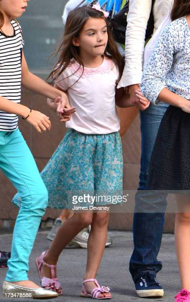 Suri Cruise leaves Make Meaning on July 14 2013 in New York City