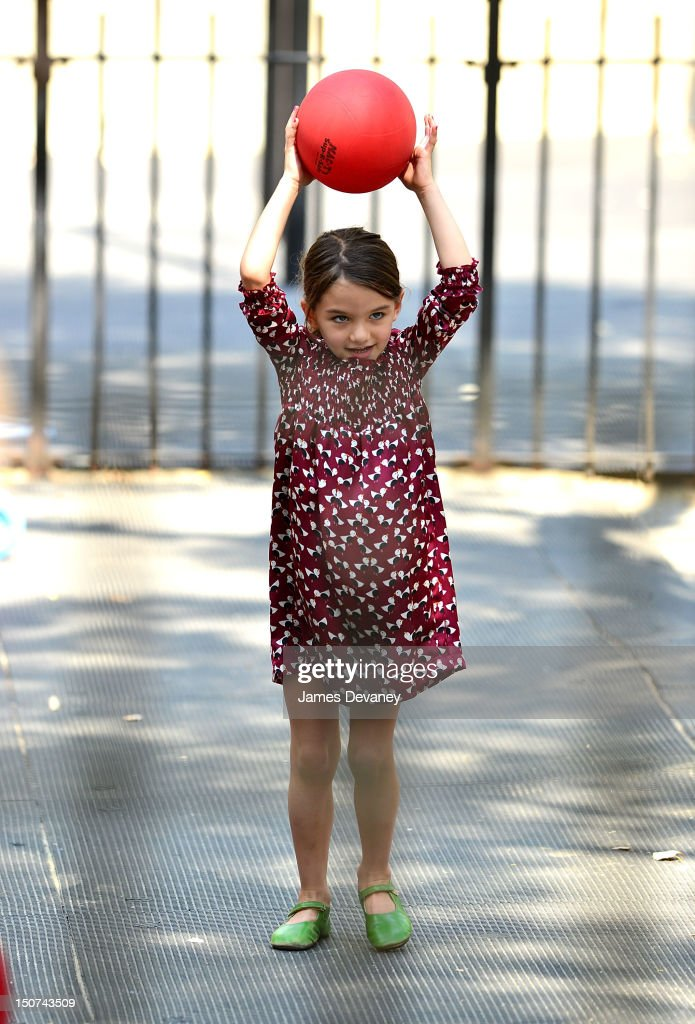 Katie Holmes And Suri Cruise Sighting In New York City - August 25, 2012