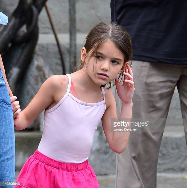 Suri Cruise seen leaving Pastis in the Meatpacking District on July 29 2012 in New York City