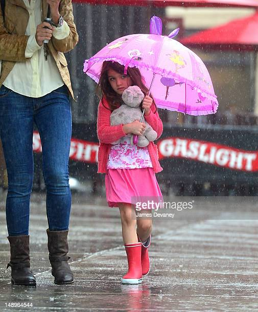 Suri Cruise seen walking in the rain in the Meat Packing District on July 20 2012 in New York City