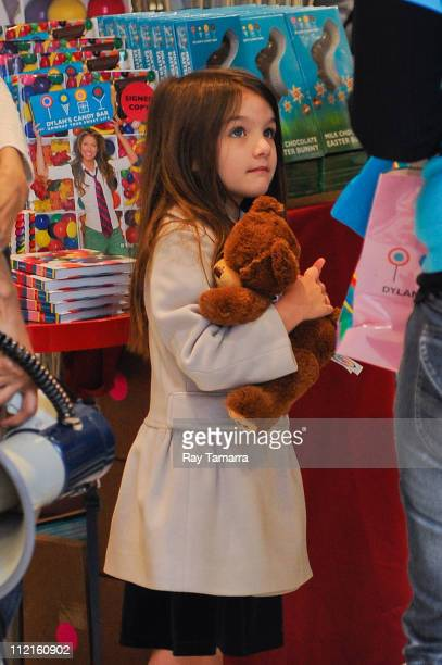 Suri Cruise shops in Dylan's Candy Bar on April 13 2011 in New York City