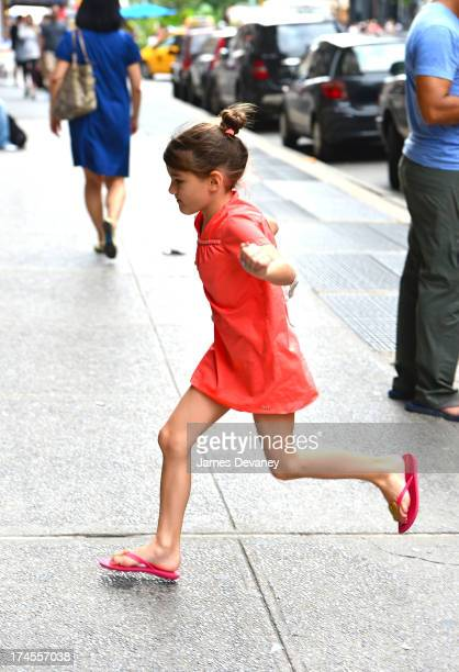 Suri Cruise visits ABC Carpet on July 27 2013 in New York City
