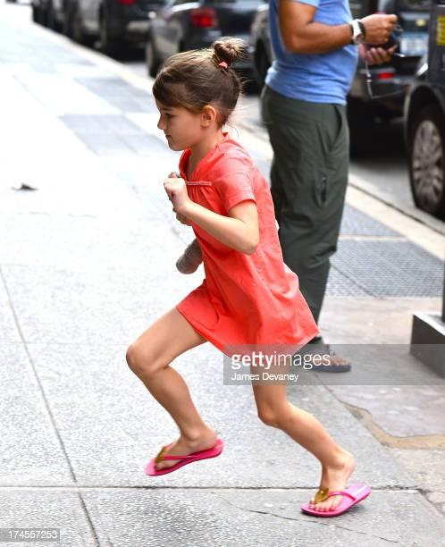 Suri Cruise visits ABC Carpet on July 27 2013 in New York City