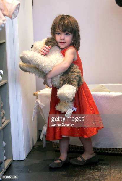 Suri Cruise visits Bonpoint children store in West Village on August 17 2008 in New York City
