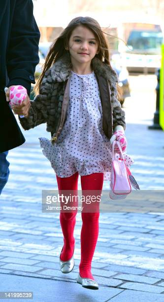 Suri Cruise visits Chelsea Piers on March 27 2012 in New York City