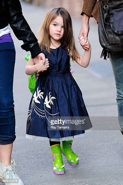 Suri Cruise walks in the Greenwich Village on November 22 2009 in New York City
