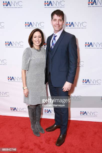 Suri Kasirer and James Barbour during the Hotel Association of New York City hosts 'The Red Carpet Hospitality Gala' HANYC's Annual Dinner/Dance at...