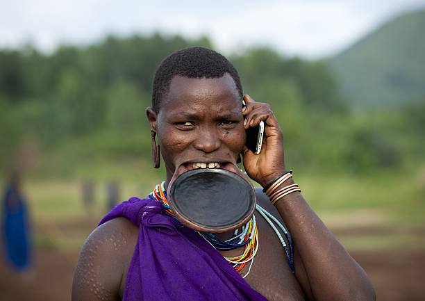 Suri Woman With Lip Plate In Turgit Village, Omo Valley, Ethiopia On July 04, 2010 -2836