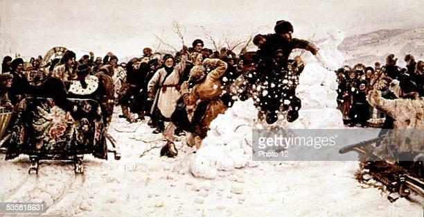 V I Surikov Assault of a snowed up town Russia Moscow Tretiakov Gallery