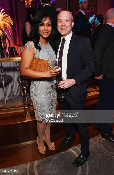 Surina Prikash and Adam Rosso attend the Lincoln Center Alternative Investment Industry Gala on April 16 2018 at The Rainbow Room in New York City