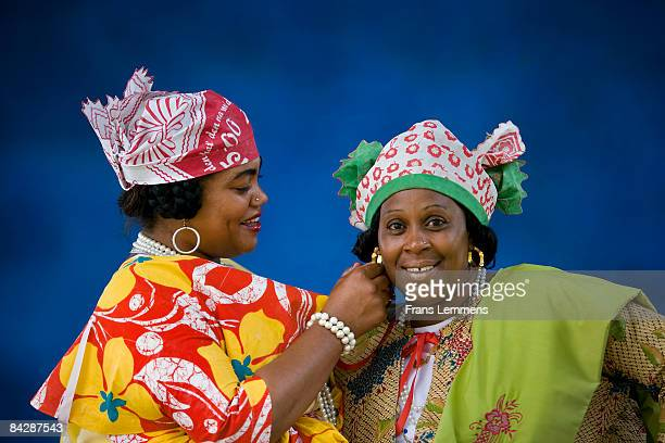 suriname, paramaribo. creole women. - creole ethnicity stock pictures, royalty-free photos & images