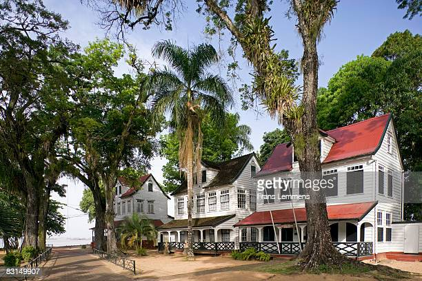 Suriname, Paramaribo, Historic houses.