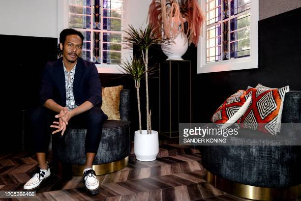 Surinamese singersongwriter Jeangu Macrooy poses during a press meeting in Amsterdam on March 5 2020 Jeangu Macrooy 26yearsold will represent The...