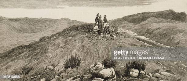 Surkh Khotal red hill near Gandamak Afghanistan Second AngloAfghan War illustration from the magazine The Graphic volume XIX no 498 June 14 1879