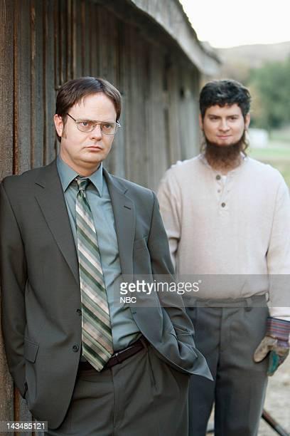 THE OFFICE Surplus Episode 9 Pictured Rainn Wilson as Dwight Schrute Michael Schur as Mose