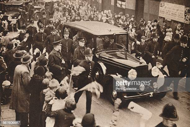 'Surprise Drive to Hoxton' 1937 On the day after their coronation King George VI and Queen Elizabeth paid a surprise visit to East and NorthEast...