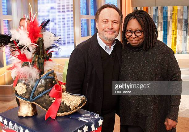 """Surprise guests help to celebrate Whoopi Goldberg's 60th birthday on """"THE VIEW,"""" airing FRIDAY, Nov. 13, 2015 on the Walt Disney Television via Getty..."""