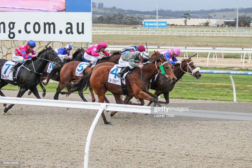 Surprise Hero ridden by Beau Mertens wins the Racing.com BM58 Handicap at Racing.com Park Synthetic Racecourse on April 15, 2018 in Pakenham, Australia.