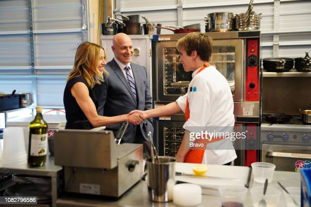 TOP CHEF 'Surprise it's Restaurant Wars' Episode 1604 Pictured Caroline Styne Tom Colicchio Adrienne Wright
