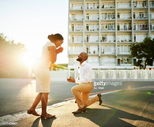 surprise proposal - black women engagement rings stock pictures, royalty-free photos & images