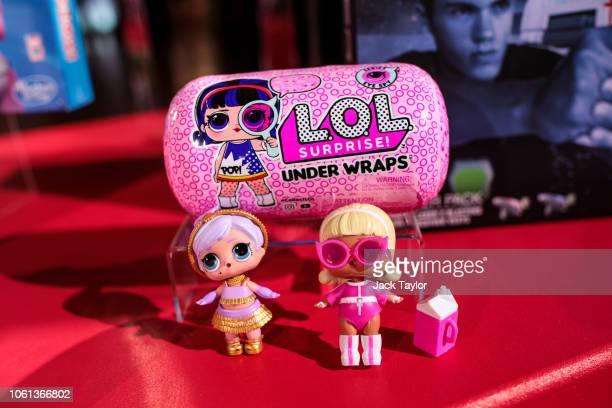 'LOL Surprise Under Wraps' dolls on display at a 'Dream Toys' event to unveil the top twelve toys this Christmas on November 14 2018 in London...
