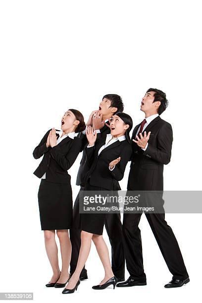 Surprised business team