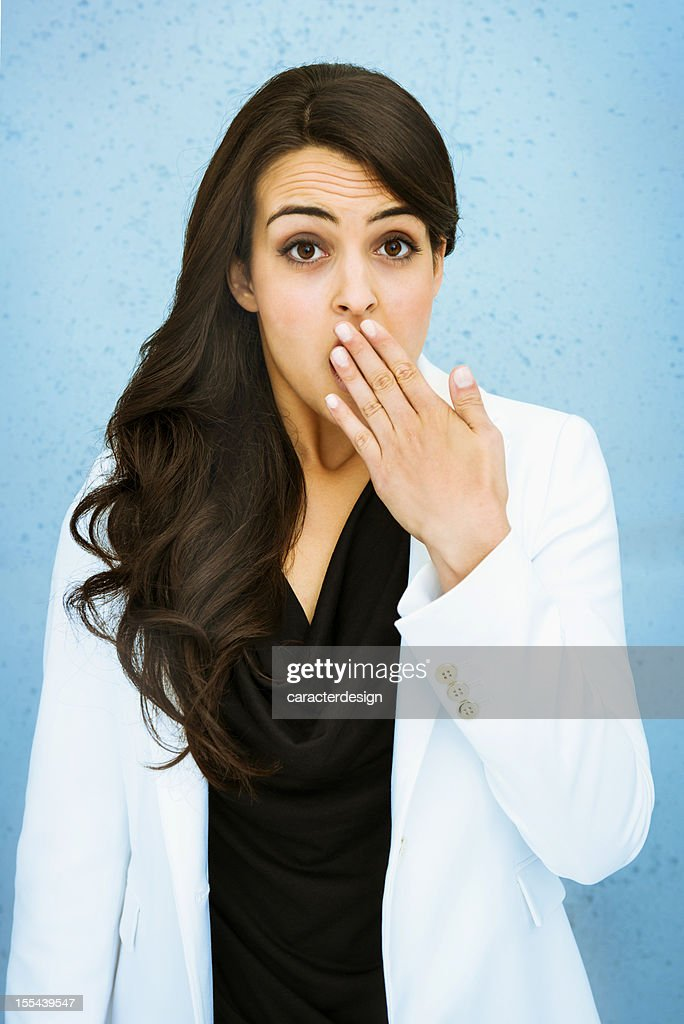 Surprised businesswoman : Stock Photo