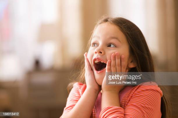 surprised caucasian girl - excitement stock pictures, royalty-free photos & images