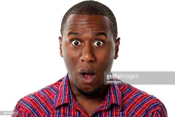 surprised gasping man - staring stock photos and pictures