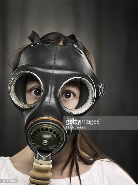 Surprised Girl in Gasmask