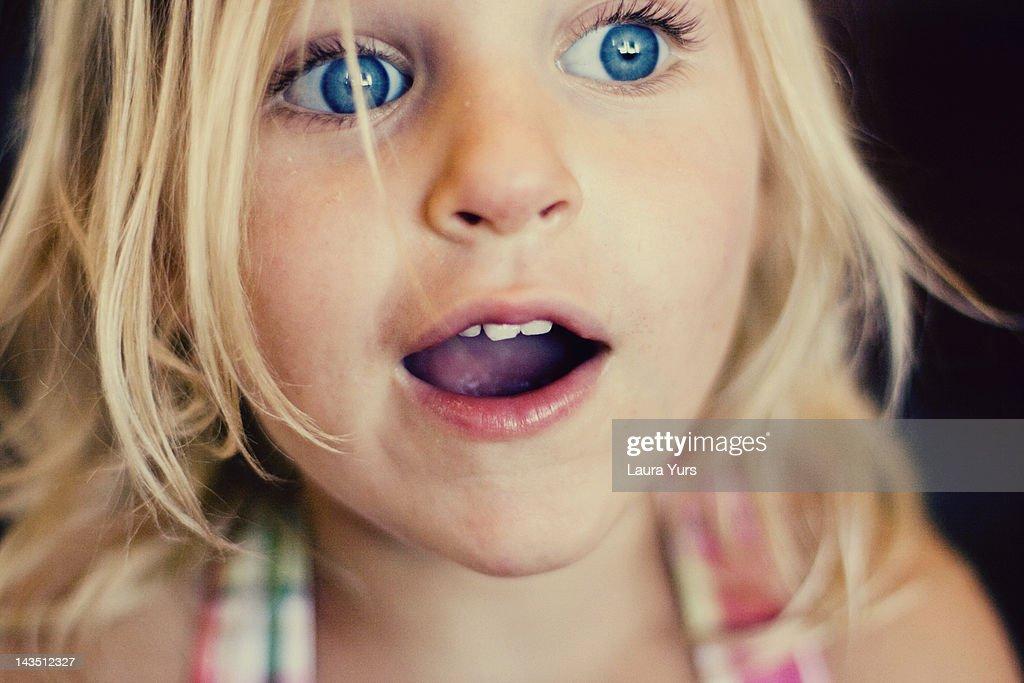 Surprised girl : Stock Photo