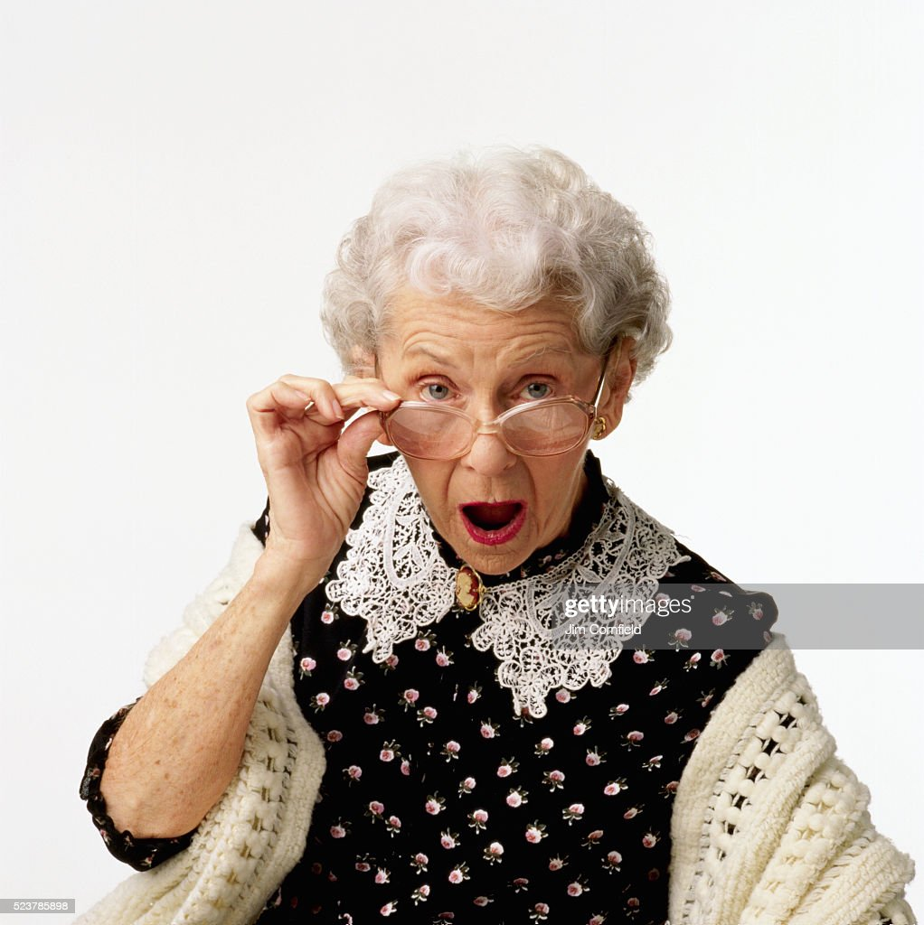 Seniors Shocked by TV stock photo. Image of handsome