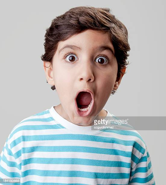 Surprised little boy