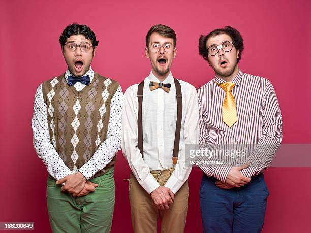 surprised nerds - nerd stock pictures, royalty-free photos & images
