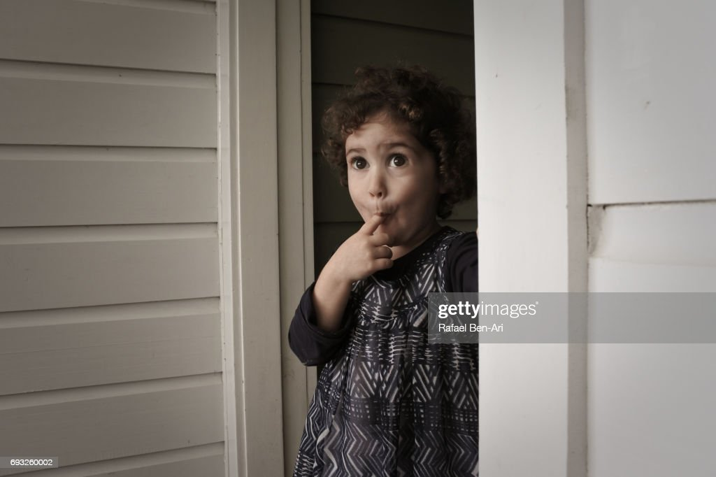 Surprised small girl : Stock Photo