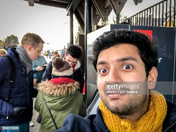 Surprised Winter's Day Selfie in the Beautiful City of Oslo