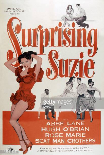 Surprising Suzie poster US poster art from left Abbe Lane Scatman Crothers Abbe Lane Hugh O'Brian Rose Marie 1952