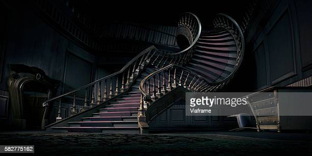 Surreal bending stair