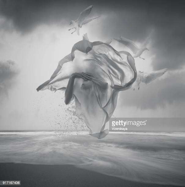 surreal black and white picture