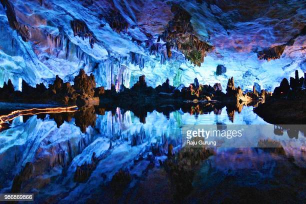 surreal caves of guilin, china - 洞窟 ストックフォトと画像