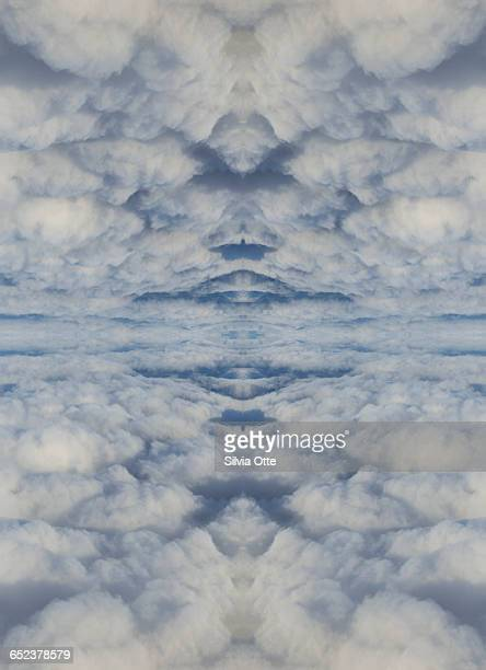 Surreal cloud collage in heavenly skies