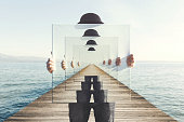 surreal enigmatic picture on canvas