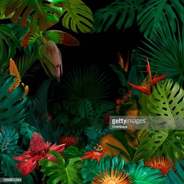 Surreale Dschungel Porträt
