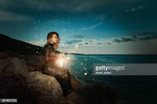surreal moments - fireflies stock pictures, royalty-free photos & images