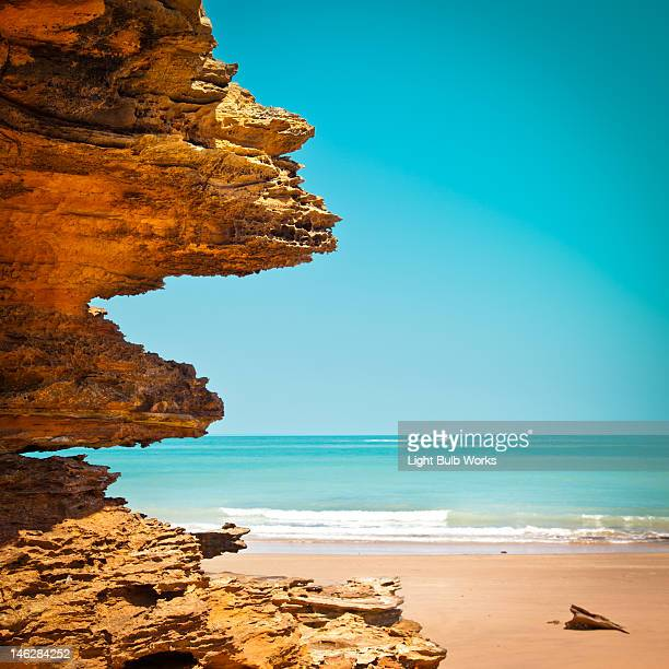 Surreal rock formation in broome