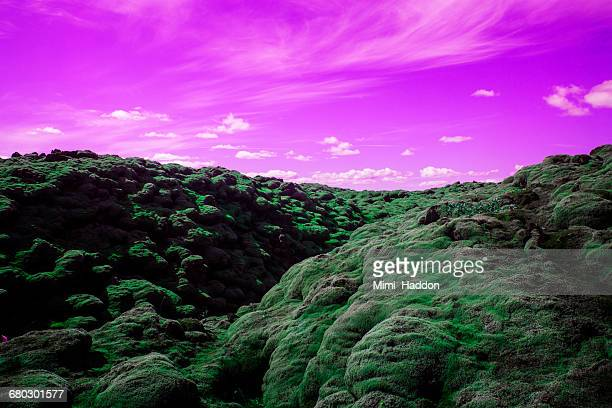 Surreal Volcanic Landscape in Southern Iceland