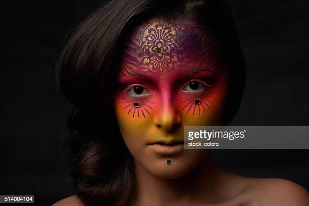 surreal woman, fortune teller